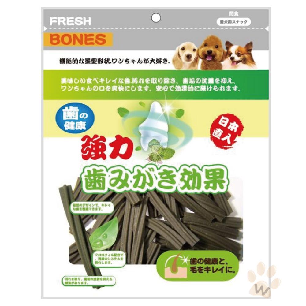 日本FRESHBONES 葉綠素螺旋型潔牙骨300g 1入