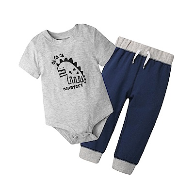 baby童衣 短袖套裝 純棉印花男寶休閒 80078