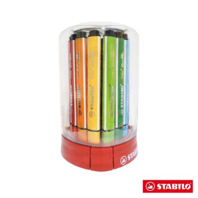 STABILO 繪畫系 - Trio Scribbi 12色大三角彈性筆頭彩色筆(筒裝)
