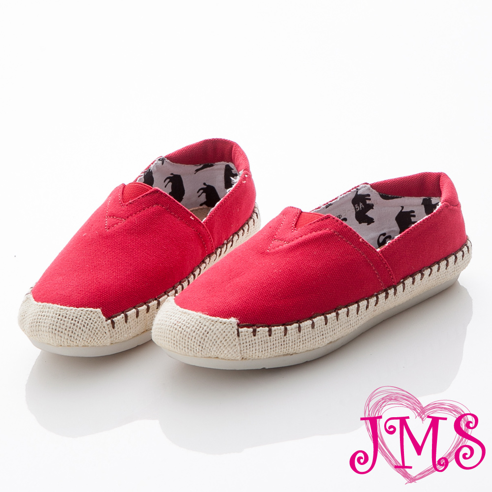 ☆JMS☆潮流款~素色休閒帆布鞋-紅色