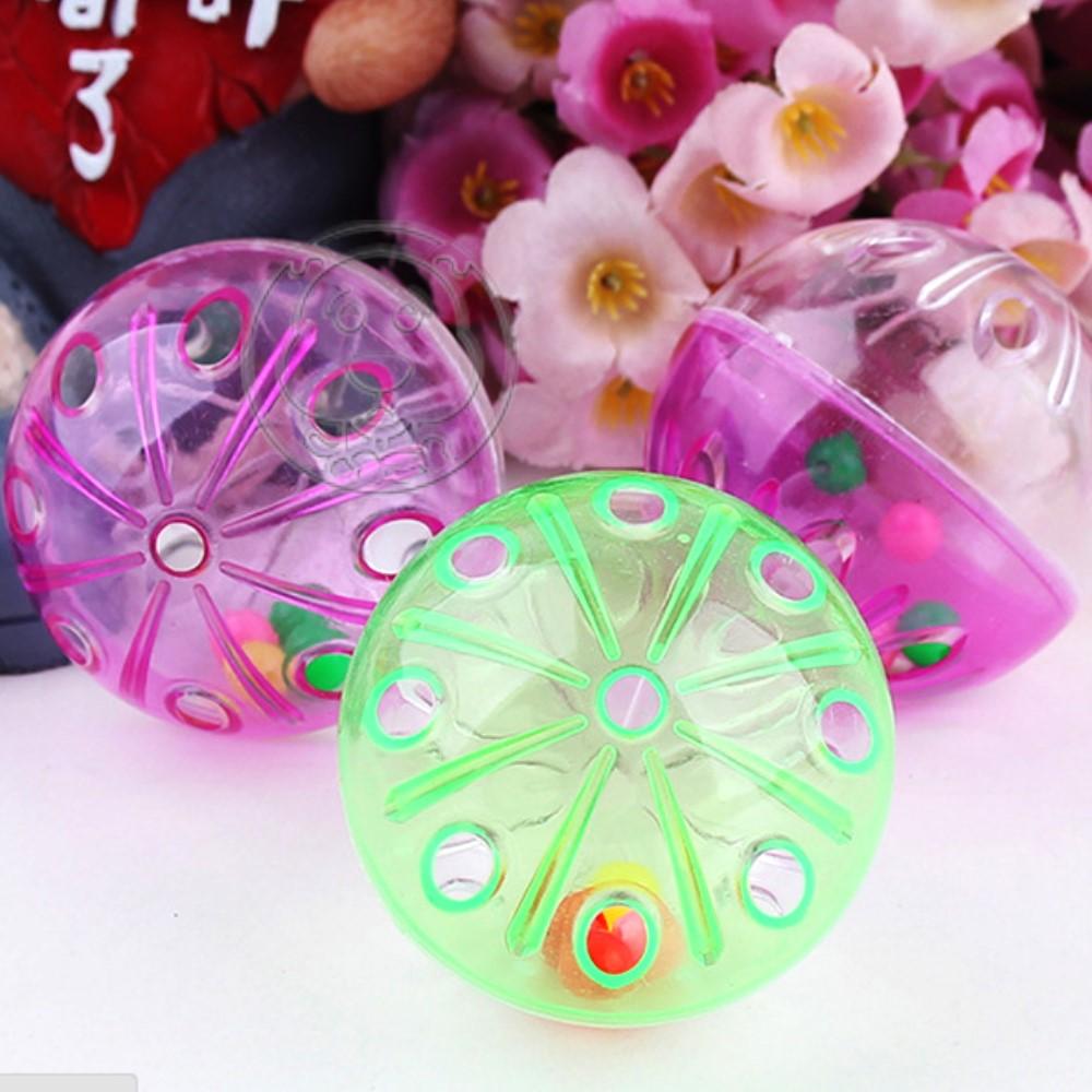 dyy》寵物專用透明 不透明雙色鈴噹球直徑約4cm*4顆