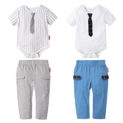 baby童衣 帥氣領帶包屁衣+長褲套裝組 61132