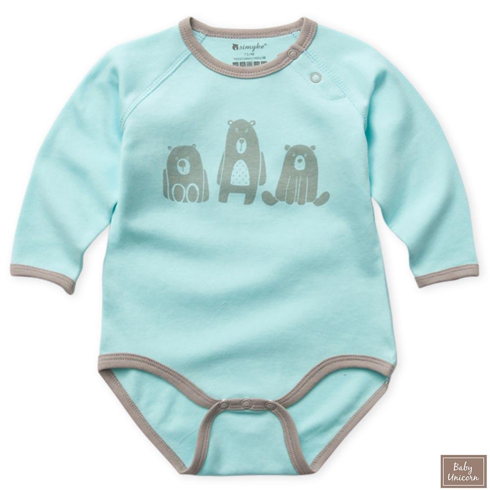 Baby unicorn 三隻小熊長袖包屁衣連身衣