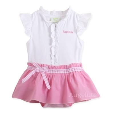 【baby童衣】嬰兒包屁裙 公主褶皺花邊設計短袖寶寶連身衣 32153