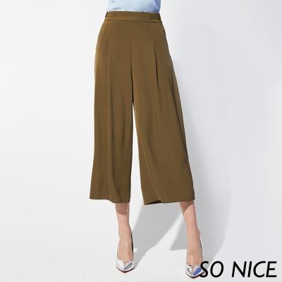 SO NICE時尚都會雪紡寬褲