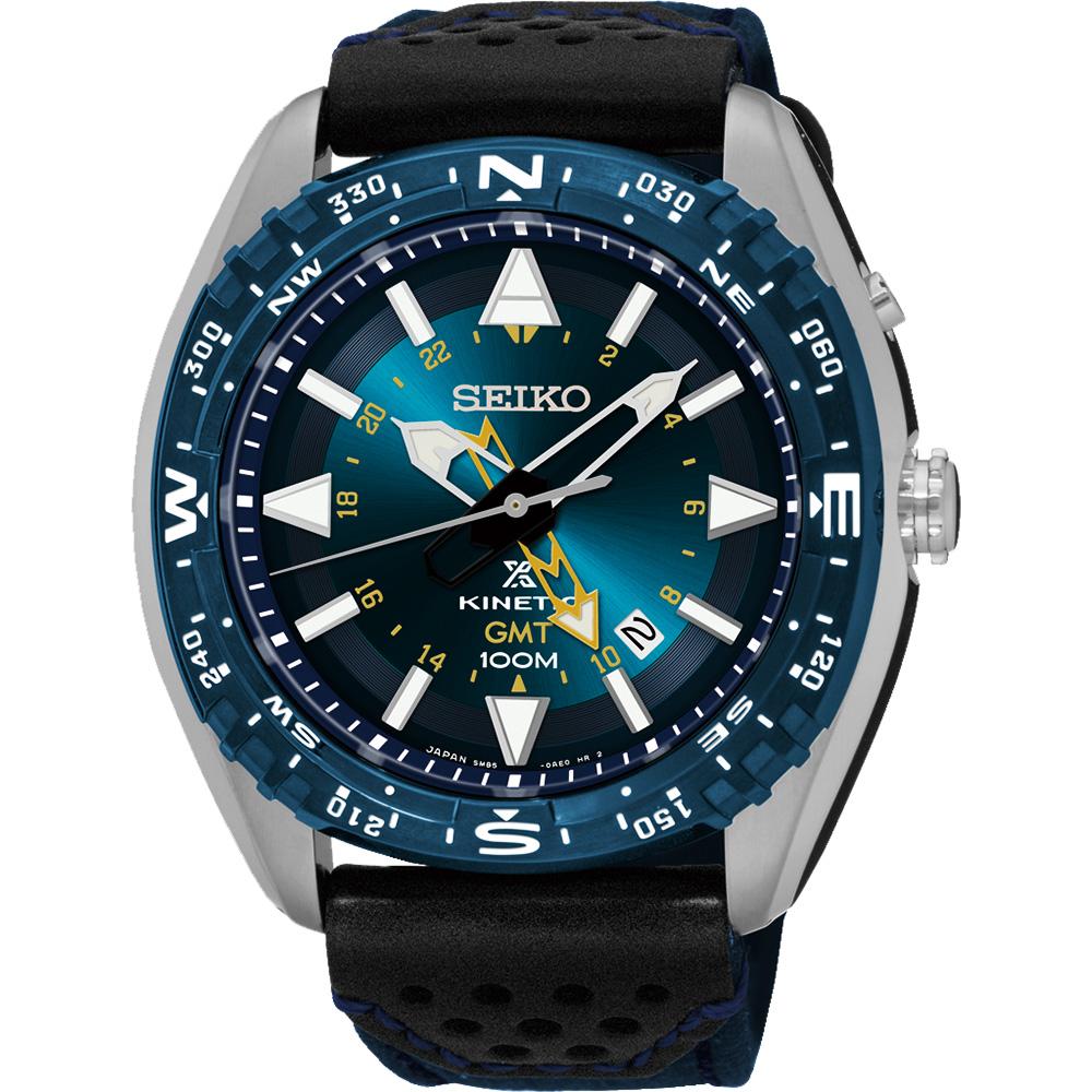 SEIKO Prospex GMT 菁英人動電能腕錶(SUN059P1)-藍/45mm