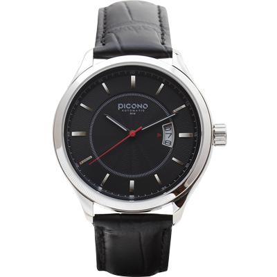 PICONO ST-13-02 尊爵系列簡約時尚腕錶-黑/48mm
