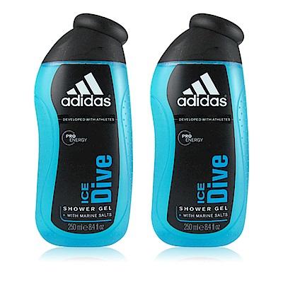 ADIDAS愛迪達 品味透涼男性香氛雙效沐浴膠250ml  (2入)