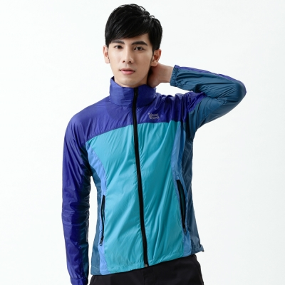 【遊遍天下】中性款超薄輕量防風防潑水抗UV外套(寶藍)