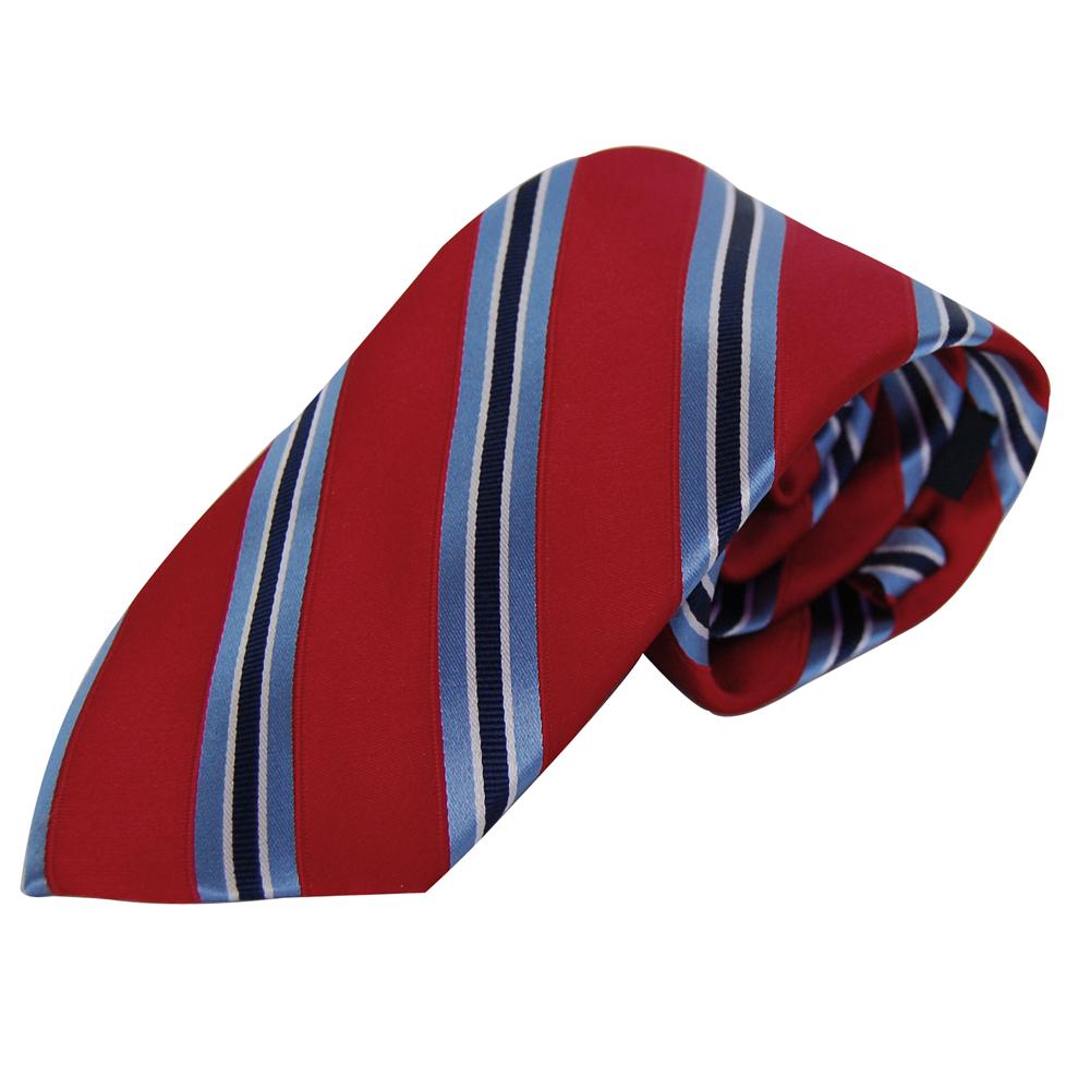 TOMMY HILFIGE紅底藍斜紋男士專屬品味時尚領帶