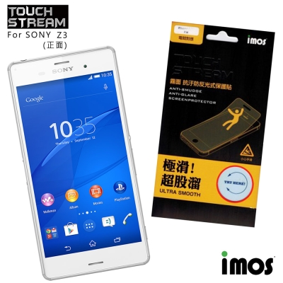 iMos Touch Stream Sony Z3(正面)霧面保護貼