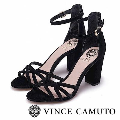 Vince Camuto 修長絨面高跟涼鞋-絨黑