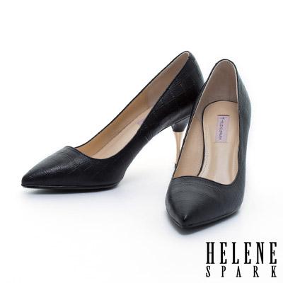 高跟鞋-HELENE-SPARK-金屬造型跟鱷魚壓