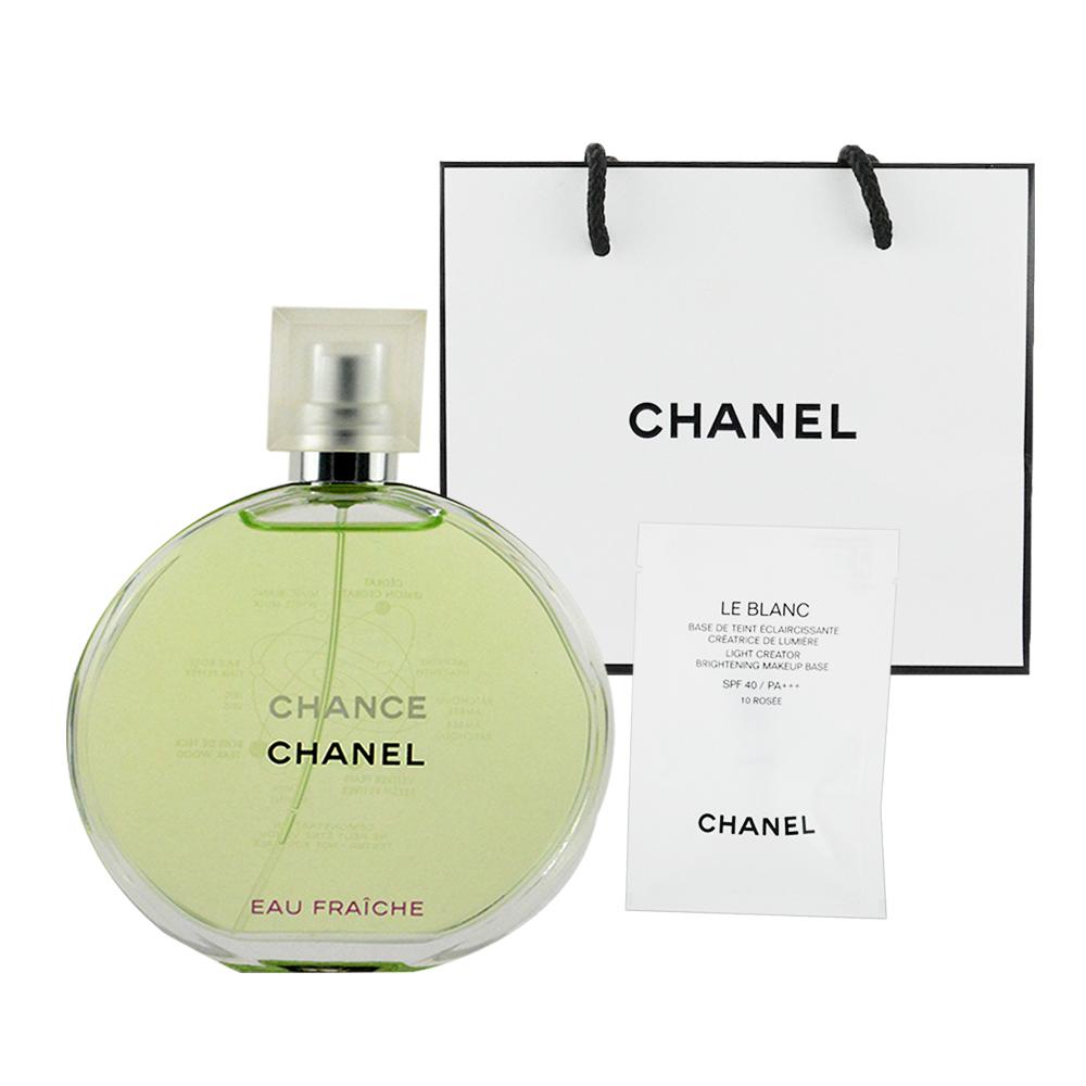 CHANEL香奈兒 CHANCE綠色氣息淡香水100ml 贈提袋及美妝小物
