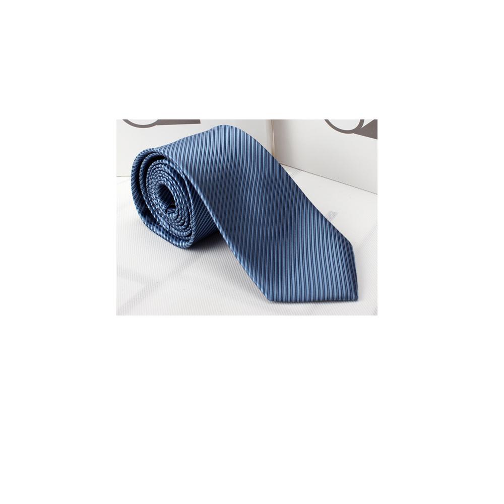 拉福   防水領帶8cm寬版領帶拉鍊領帶 (中藍)