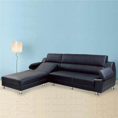 品家居 魯諾半牛皮L型沙發(左右可選)-299x160x101cm-免組