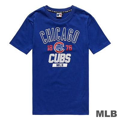 MLB-芝加哥小熊隊休閒印花短T-藍 (男)