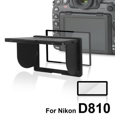 LARMOR V金屬邊框防爆鋼化玻璃相機保護貼-Nikon D810專用