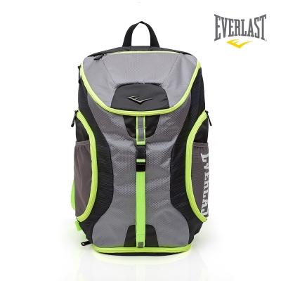 EVERLAST 拳擊運動品牌-雙肩後背包-灰/黃