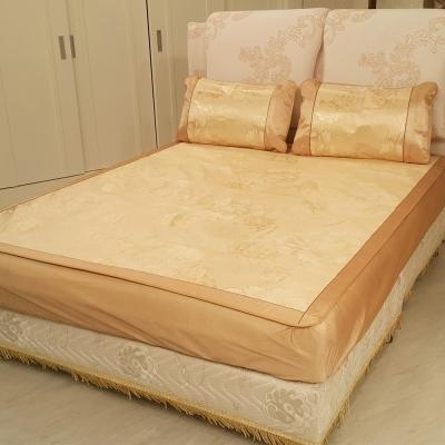 賽凡絲 頂級雙人涼感冰絲床包枕套組 (華麗金)