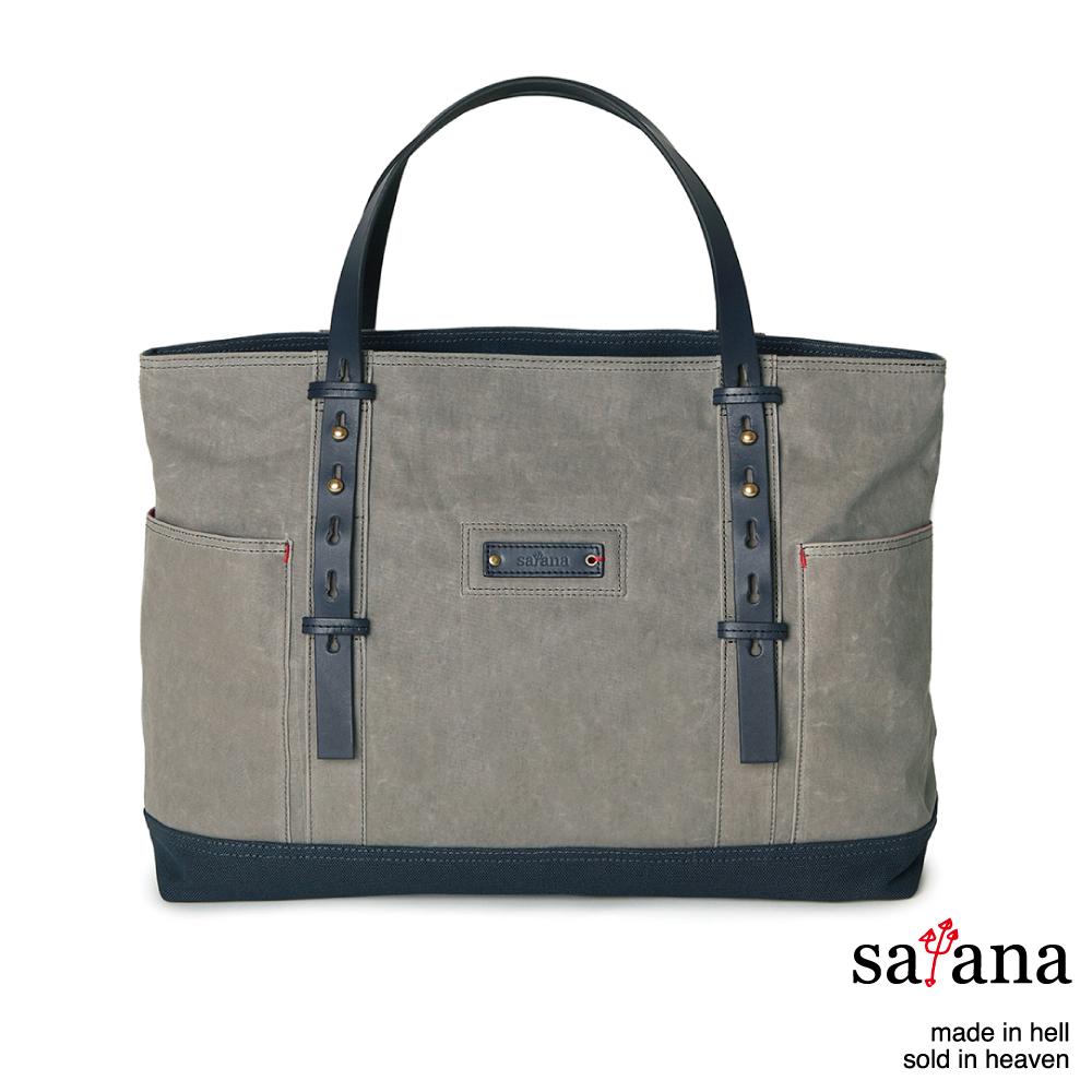 satana - 雙面托特包 - 灰色