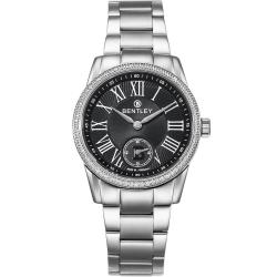 BENTLEY 賓利 Classic系列 典藏風範奢華女錶-黑x銀/32mm