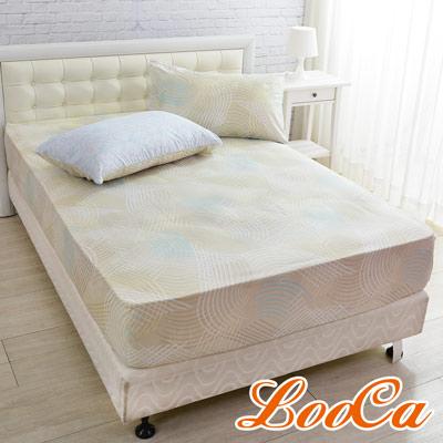 LooCa 流線律動防蹣防蚊三件式床包組(加大)