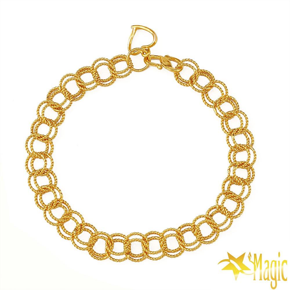 Magic魔法金-青春黃金手鍊(約3.2錢)