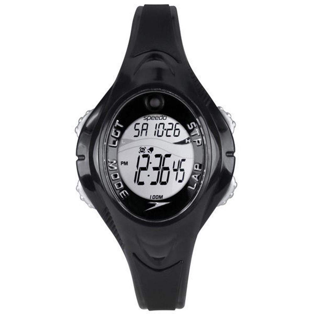 Speedo 紫外線感測運動電子腕錶-黑/40mm @ Y!購物