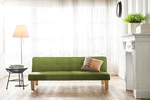 北歐風質樸布沙發床 (四色)