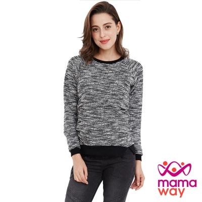 孕婦裝 哺乳衣 毛呢針織孕哺上衣(共二色) Mamaway