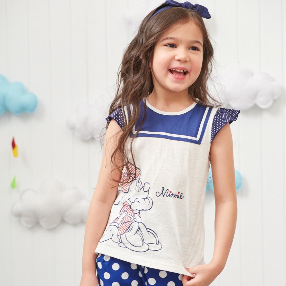 Disney 米妮系列點點水手荷葉上衣 (2色可選) product image 1