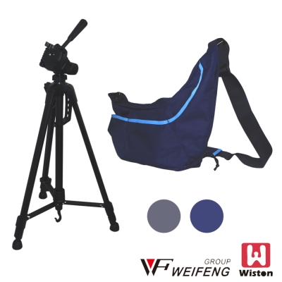 Wiston S21 飛行家相機側背包+WEIFENG WT-3520 握把式三...