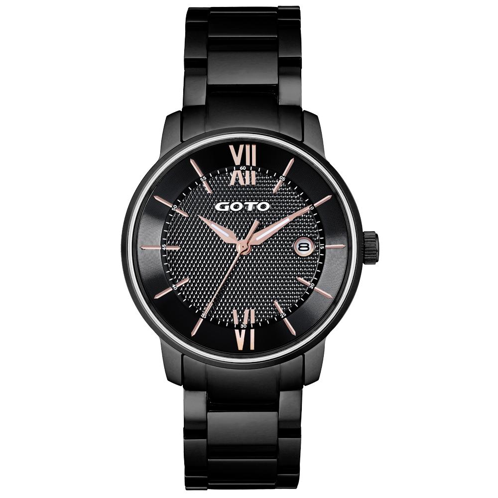 GOTO   星之碎片時尚男腕錶-黑/47mm