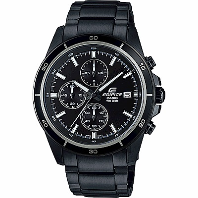 CASIO卡西歐 EDIFICE 經典賽車計時手錶-鍍黑