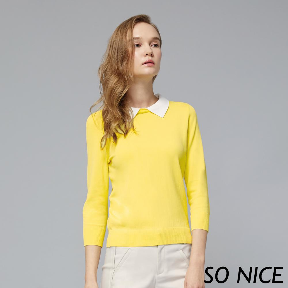 SO NICE可拆式領帶針織上衣-動態show