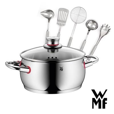 德國WMF-Quality-One低身湯鍋20cm-Profi-Plus調理工具五件組