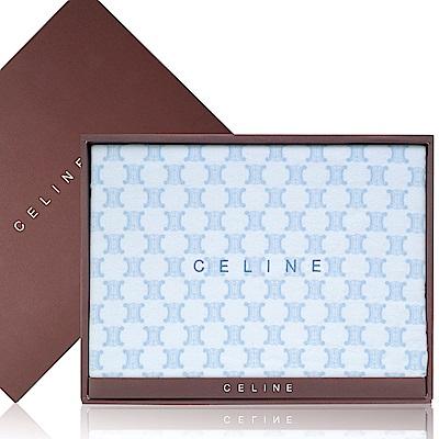 【CELINE】經典LOGO棉質床單禮盒(水藍色)