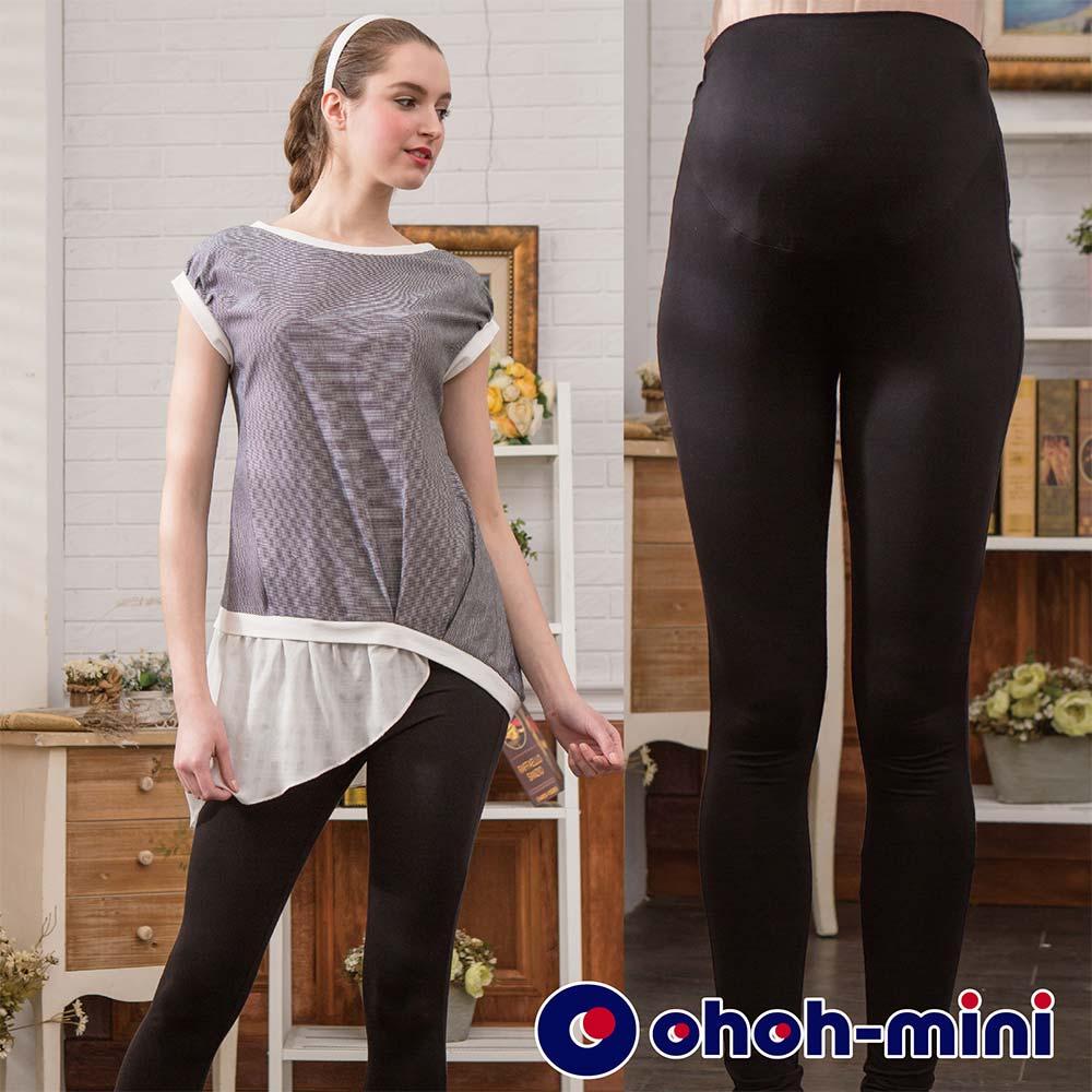 【ohoh-mini 孕婦裝】涼爽紗九分內搭孕婦褲