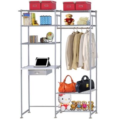 巴塞隆納-WP4型60公分+E60公分電腦桌衣櫥架(無防塵)