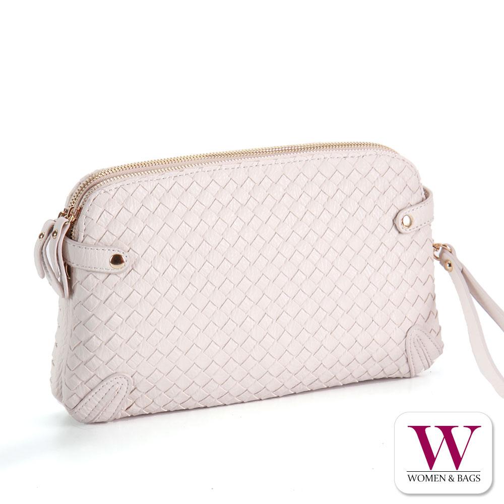 Woman&Bags WEAVE 編織雙層手拿包 [LG-646]米白