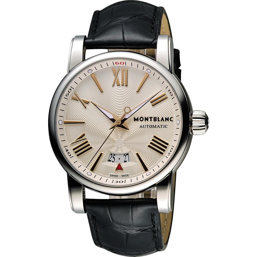 MONTBLANC 萬寶龍 STAR 系列羅馬機械腕錶-米x黑/40mm