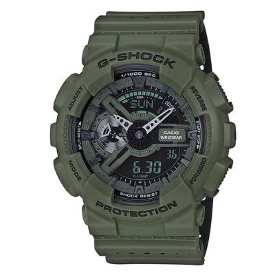 G-SHOCK 時尚運動風潮強悍百變休閒運動錶(GA-110LP-3A)軍綠/51.2mm