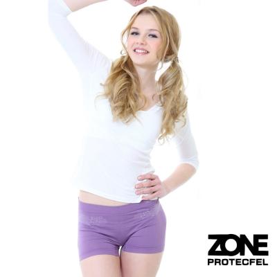 女內褲諾貝爾世紀纖維貼身防護女褲深紫ZONE