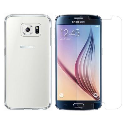 透明殼專家超值組 三星 Galaxy S6超薄.抗刮.高透光保護殼+2.5D鋼化...