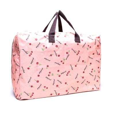 DF Queenin - 牛津布實用款大收納旅行袋-櫻桃