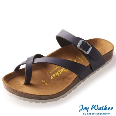 Joy Walker 素面交叉帶夾腳涼鞋* 深藍