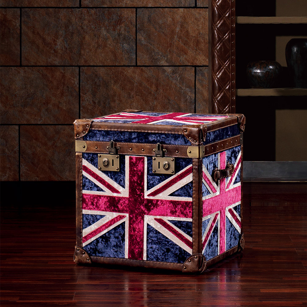 MUSE_Augustine奧古斯汀復古英倫冰花絨收藏箱