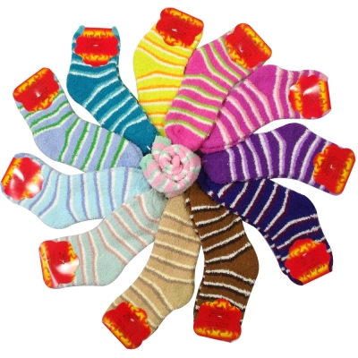 MIT抗寒暖冬羽毛絨暖暖襪6雙