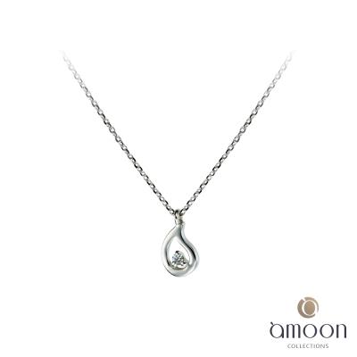 amoon 浪漫艾菲爾系列 雨露 9K金鑽石項鍊